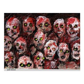 Postal del arte del zombi