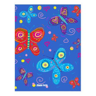 Postal del arte: Mariposas