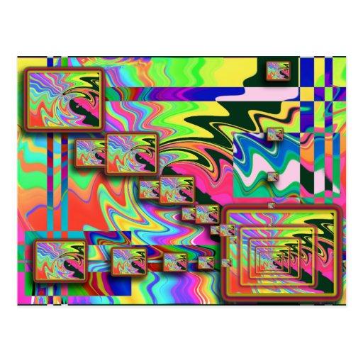 postal del ARTE POP de 5x5
