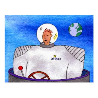 Postal del astronauta de TinCan del espacio