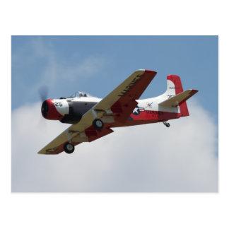 Postal del aterrizaje de A1 Skyraider