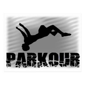 Postal del atleta de Parkour