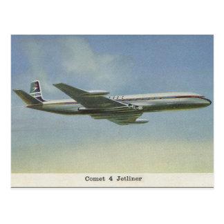 postal del avión del cometa de los años 50
