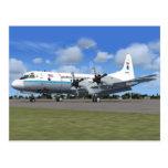 Postal del avión del tiempo de P3 Orión NOAA