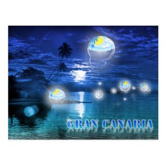 Postal del azul de Gran Canaria