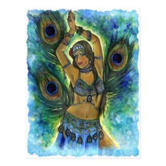 Postal del bailarín del pavo real