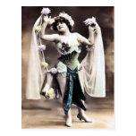 Postal del bailarín del vintage