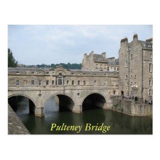 Postal del baño del puente de Pulteney