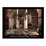 Postal del baptisterio de Hagia Sophia