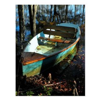 Postal del barco del lago cypress