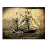 Postal del barco pirata