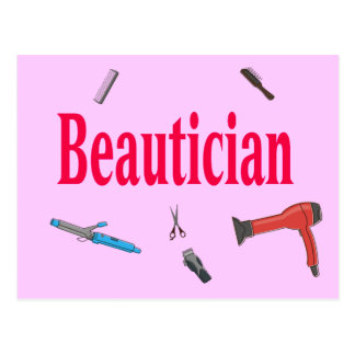 Postal del Beautician