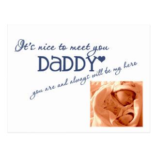 postal del bebé agradable encontrarle PERSONALI