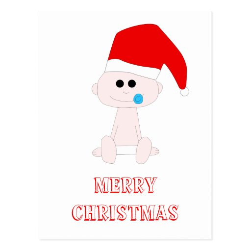 Postal del bebé de Santa