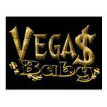 Postal del bebé de Vegas