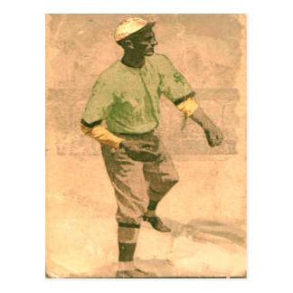 Postal del béisbol del vintage en estilo fresco