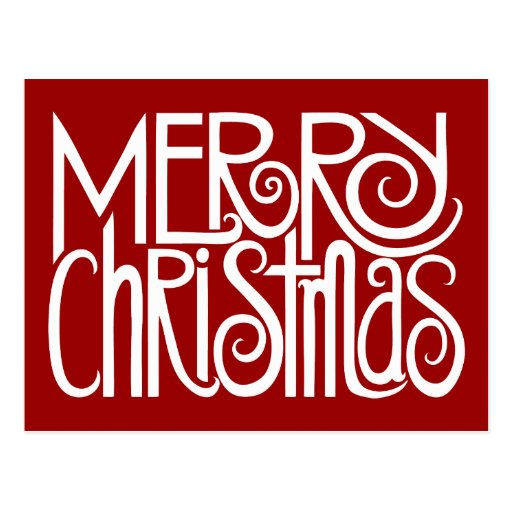 Postal del blanco de las Felices Navidad