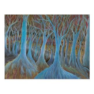 """Postal """"del bosque azul del árbol"""""""