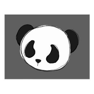 postal del bosquejo de la panda