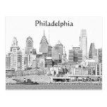 Postal del bosquejo de Philadelphia