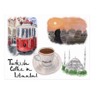 Postal del bosquejo del viaje: Café turco en Estam