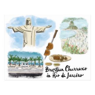 Postal del bosquejo del viaje: Churrasco - Río de