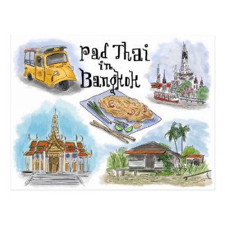 Postal del bosquejo del viaje Cojín tailandés en