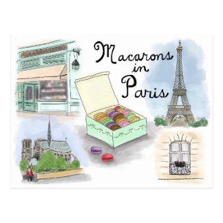 Postal del bosquejo del viaje: Macarons en París F