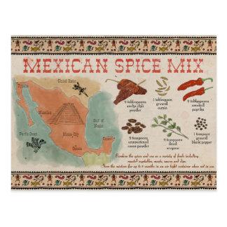 Postal del bosquejo del viaje: Mezcla mexicana de
