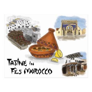 Postal del bosquejo del viaje: Tajine en Fes, Marr