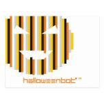 Postal del Bot y del logotipo de Halloween