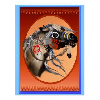 Postal del caballo de guerra