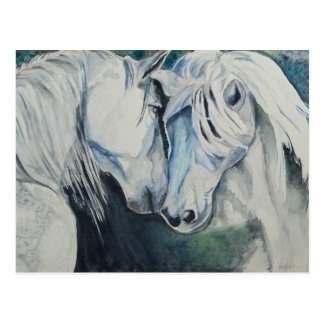 Postal del caballo de la acuarela