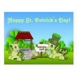 Postal del caballo del día de St Patrick feliz lin