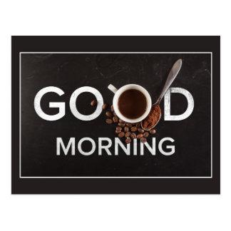 Postal del café de la buena mañana
