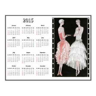 Postal del calendario de la moda 2015 de los años