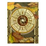 Postal del calendario de la rueda 2012 de Wiccan