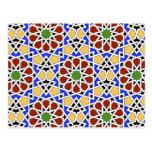 Postal del calendario de la teja 2012 del Moorish