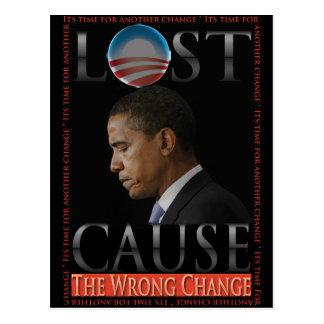 Postal del cambio del mal de Obama
