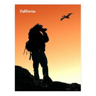Postal del caminante de California
