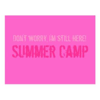 Postal del campamento de verano