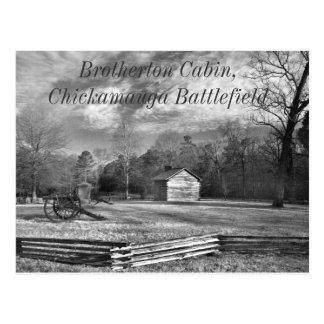 Postal del campo de batalla de Chickamauga