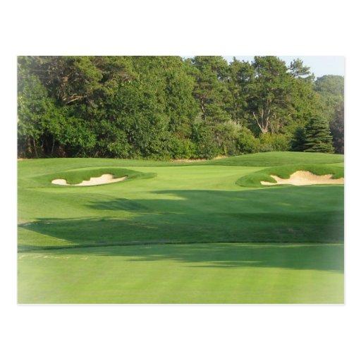 Postal del campo de golf