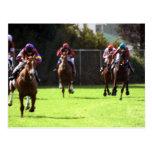 Postal del campo de la carrera de caballos