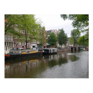 Postal del canal de Amsterdam