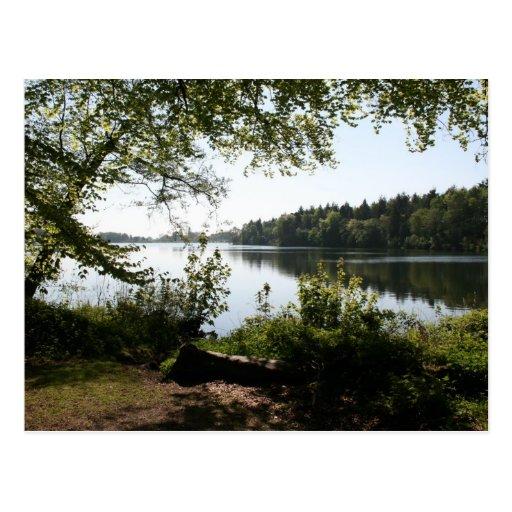 Postal del canal de Llangollen del parque del país