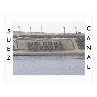Postal del canal de Suez