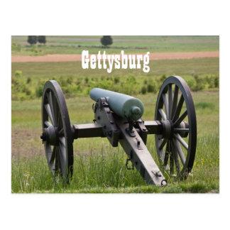 Postal del cañón de Gettysburg