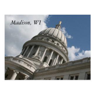 Postal del capitolio de Wisconsin