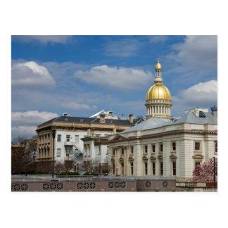 Postal del capitolio del estado de Trenton